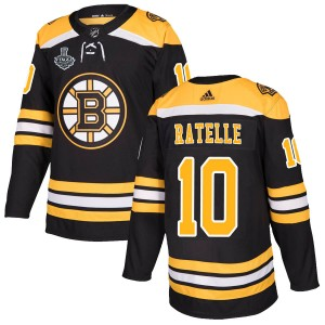 Jean Ratelle Men's Adidas Boston Bruins Authentic Black Home 2019 Stanley Cup Final Bound Jersey