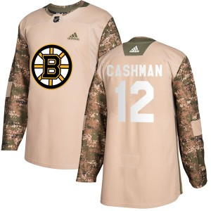 Wayne Cashman Men's Adidas Boston Bruins Authentic Camo Veterans Day Practice Jersey